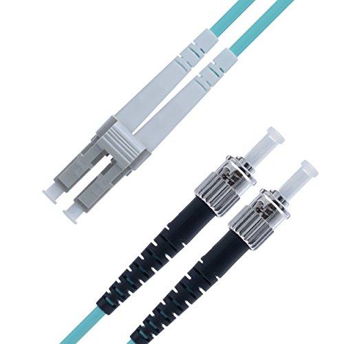 125-duplex-faser-jumper-kabel (LWL Patchkabel LC ST Multimode Duplex Glasfaser - 10 m LC/ST - 50/125 OM3 Faser 10G - Türkis - (LSZH) - Patchkabel von Beyondtech - PureOptics Series)