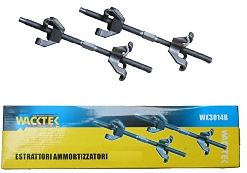 SET 2 TOOLS A 4 GANCI PER COMPRESSIONE E SMONTAGGIO MOLLE AMMORTIZZATORI 380 mm