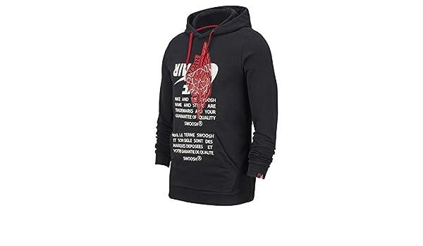 Nike Jumpman Classics Pullover Hoodie BlackRed BQ8468 010