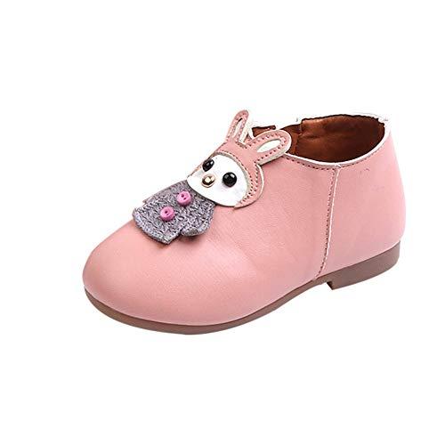 friendGG❤️❤️ Mädchen Stiefeletten Stiefel Kurzschaft Stiefel Kinderstiefel Ankle Boots Lederstiefel Karikatur Seitlicher Reißverschluss Stiefelette Lässige Schuhe Schwarz, Rosa, Beige -