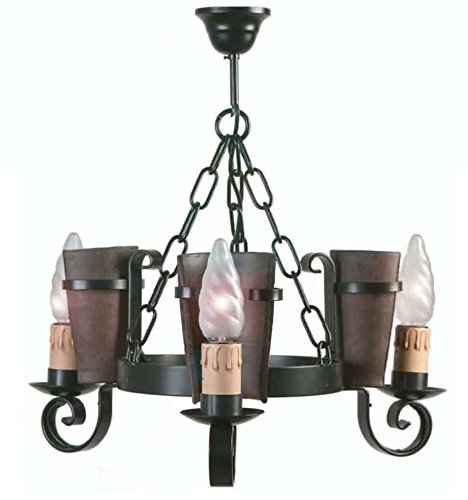lampara-rustica-eunice-grupo-1-negro-lampara-de-4-luces