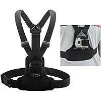 Andoer Ajustable elástico arnés de cuerpo Pecho correa Monte banda cinturón de accesorios para deporte cámara Gopro Hero 4/3 +/3/2/1