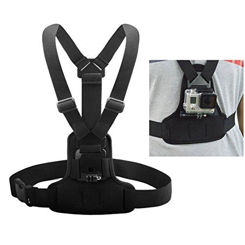 Andoer Einstellbare elastische Auffanggurt Brustgurt Berg Band Gürtel Zubehör für Sport-Kamera GoPro Hero 4/3 + / 3 / 1.2 SJCAM