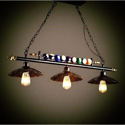 LYNDM Edison stile loft pendente industriale Lampadario con 3 sale da pranzo luci Retro Vintage Lampada luci pendenti Lampe Lamparas(#DD2311)