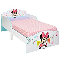 Hello Home Minnie Mouse Toddler Bed, Wood, White, 140 x 77 x 59 cm