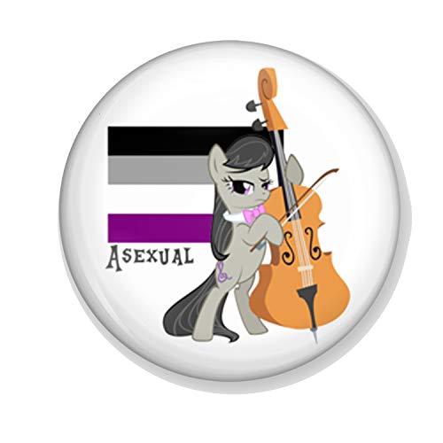 Gifts & Gadgets Co. Asexual Make-up-Spiegel mit Einhorn-Flagge, 58 mm, groß, rund, Taschenformat (Kommen Aus Dem Schrank Kostüm)