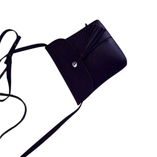 Culater® Sac à main Sacs à bandoulière en cuir PU Messenger sac de mode féminine Noir