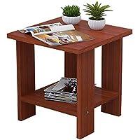 Preisvergleich für Holz Nachttisch Side End Tabelle Multi-Funktions-Platzsparende Nachttisch/Kleine BüCherregal/Tee Tisch, Mit Im Wohnzimmer, Schlafzimmer und Studie (30 * 30 * 32 cm).