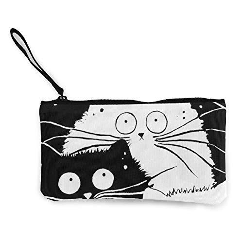 Frauen und Mädchen-Karikatur-Katzen-Nette Art- und Weisegeldbeutel-Mappen-Beutel-Änderungs-Beutel-Schlüsselhalter