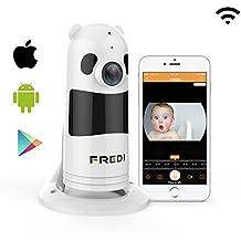 1080P FREDI Cámara Panorámica Vigilabebes Baby Monitor IR Visión Nocturna