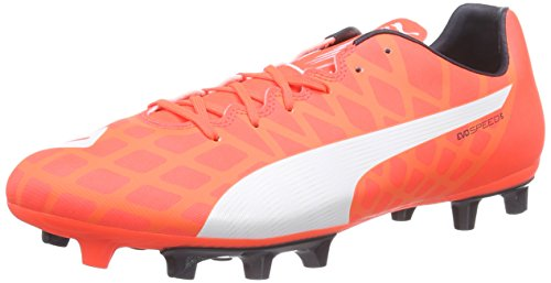 Puma evoSPEED 5.4 FG, Herren Fußballschuhe, Orange (Lava Blast-White-Total Eclipse 01), 44 EU (9.5 Herren UK) Orange Blue-puma-schuhe