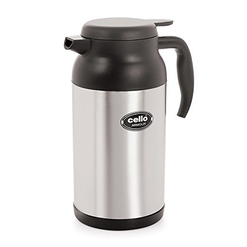 Cello Armour Stainless Steel Flask, 2 Litres, Black