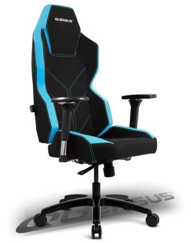 quersus Geos 701Asiento Gamer Tejido, Negro Azul, L- L–XXL