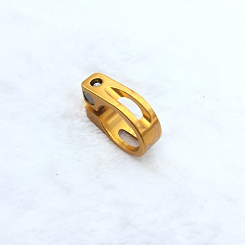 CarbonEnmy Alu Fahrrad Sattelklemme Saddle clamp 30mm (Gold)