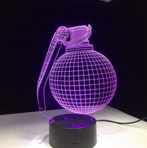 Joplc Neue 3D-Lampe Royale Geschenk für Boyfriend Gamer Kids Geburtstag Dekor LED-Licht