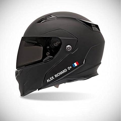 Adhesivo para Casco de Moto adhesivo identidad–Color adhesivo–Azul oscuro