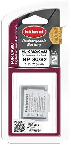 Hähnel HL CA80-82 Li-Ion Akku für Casio Digitalkameras - Ersatzakku für Casio NP-80 / NP-82 schwarz