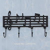 Joeesun Chinese Creative Towel Hook Hook,Cast Iron Music Note Wall Hook