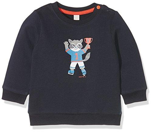 Esprit Kids Baby-Jungen Sweatshirt Sweat Shirt, Blau (Marine 043), 92 (92)