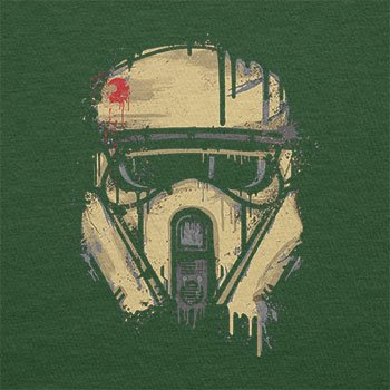 TEXLAB - Trooper Helmet Painting - Herren T-Shirt Flaschengrün