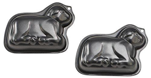 Dr. Oetker Motivbackform-Set Osterlämmchen, kleine Backformen für Kuchen in Lamm-Form (Farbe: Schwarz), Menge: 2 Stück