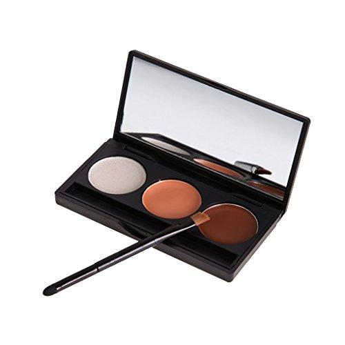 Crème Correcteur Anti Tâches 3 Couleurs Maquillage Anticernes Palette avec Un Pinceau