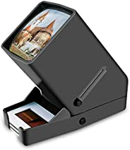 DIGITNOW! 35mm Film and Slide Viewer, 3X Magnification and Desk Top LED Lighted Illuminated Viewing and Batter