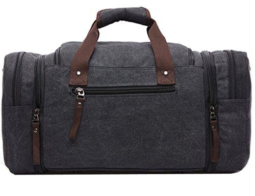 sulandy Unisex Tela spaziosa borsa borsa a tracolla borsa da viaggio blu blue large black