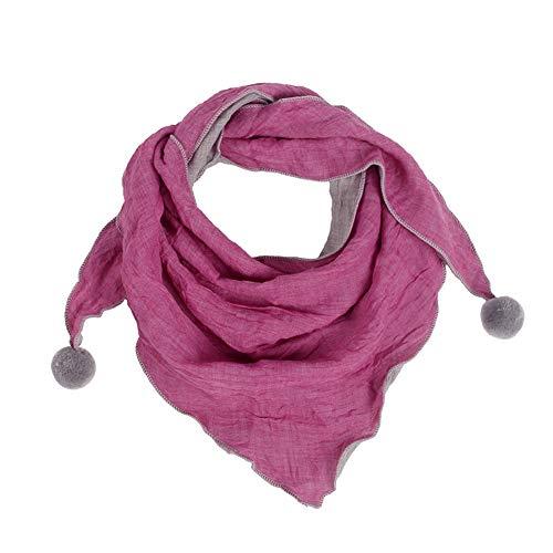 jingyuu bufanda pañuelo mujer chal Niñas Otoño Invierno Polar Noel Mode Design Chic triángulo muselina seda Foulards 60-80cm Style-3