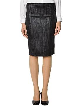CINQUE Damen Rock Mikrofaser Skirt Unifarben, Größe: 42, Farbe: Schwarz