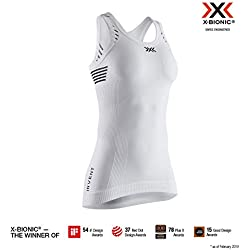 X-Bionic Invent Light Singlet Women, T Shirt Donna, Arctic White/Dolomite Grey, M