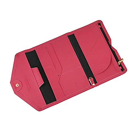Liying Unisex PU Leather Trifold Travel Slim Compact Trip Wallet RFID Protection Passport Card Coin Phone Well-Organized Holder Multipurpose Clutch Pocket Purse -
