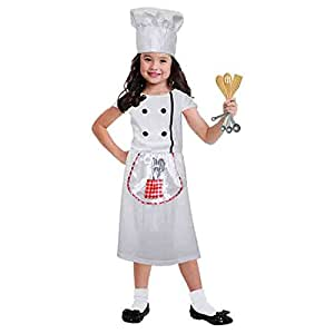 Girls Chef Role Play Set Costume For Cook Fancy Dress Outfit Amazon