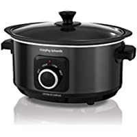 Morphy Richards Slow Cooker Sear and Stew 460012 3.5L Black Slowcooker