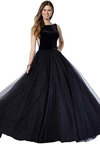 Vickyben Damen ALinie Tuell Abendkleider Hochzeit Kleid Ballkleid ...