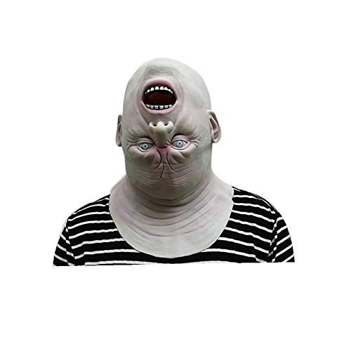 WANG XIN Down Full Head Gruselige Latex Kopfmaske, Lebensechtes menschliches Gesicht Gruselige Halloween Kostüm Maske Cosplay Party Masken Evil Killer Kostüm for Erwachsene