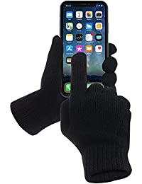 GreatShield GS09010 Touchscreen Strick Winterhandschuhe/Handschuhe aus LAMMWOLLE