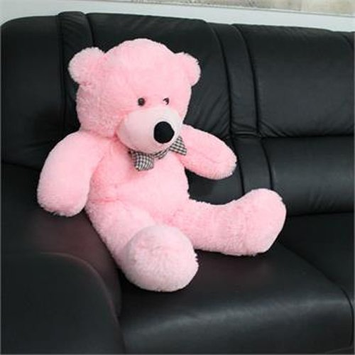 CLICK4DEAL 3 Feet Stuffed/Spongy/Fluffy/Huggable/Cute High Quality Teddy Bear for Her Birthday Gift/Girls/Lovable/Someone Special (Pink Color) - 91 cm