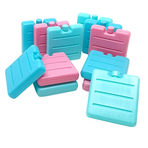 ToCi 12er Set Kleine Kühlakkus | Mini Kühl-Elemente für die Kühltasche | Kühl-Akku für die Brotdose -