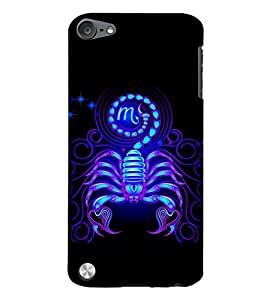 PrintVisa Cancer The Scorpion Zodiac Sign 3D Hard Polycarbonate Designer Back Case Cover for Apple iPod Touch 5