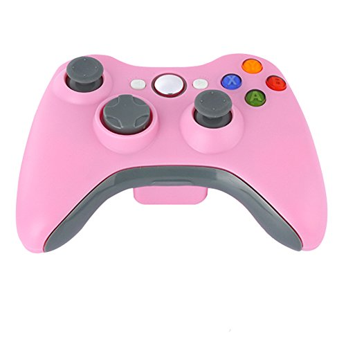 Demiawaking Neue Schwarz 2,4GHz Wireless Game Kontroller Joypad für Xbox 360 (Pink) (Wireless 360 Pink Xbox Controller)