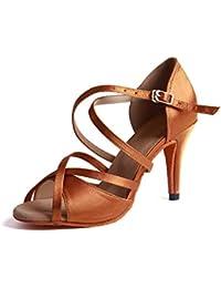 6400f0d9856 Syrads Zapatos de Baile Latino para Mujer Salsa Tango Moderna Bachata Vals  Zapatos de Baile de