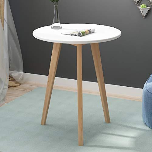 Kleiner runder Tisch, einfacher moderner Kleiner Haushaltsschlafzimmer des kleinen Schlafzimmers, Kleiner Verhandlungstisch des festen Holzes (Farbe : E, größe : 60 * 70CM) -