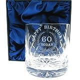 Verre à whisky d'anniversaire 60 ans Cadeau personnalisé pour homme