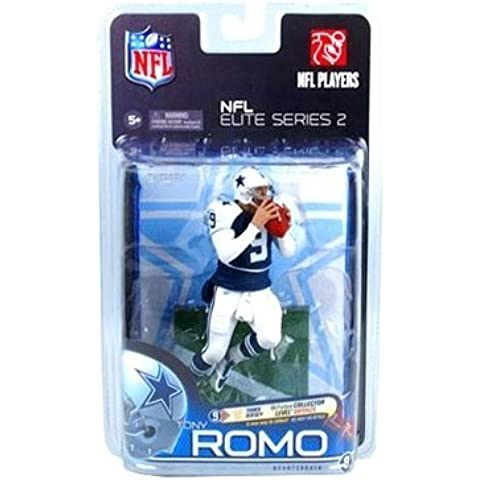 Tony Romo #9 Dallas Cowboys NFL Elite Series Retro White Shoulder/Sleeve Blue Jersey Chase Alternate Variant McFarlane Bronze Collector Level Limited to a Production of 3000 Figures Individually Serialized by