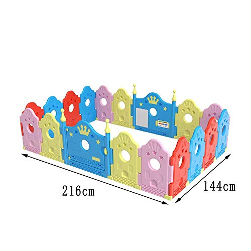 GYH Safety Fence,Indoor And Outdoor Playpens Room Dividers Children's Crawling Fence Safety Fence ( Size : 216*144cm )