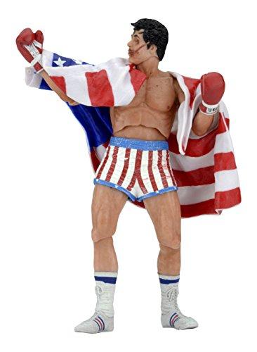 Figura Rocky Balboa, Rocky IV 18 cm. 40ª aniversario. Serie 2. NECA