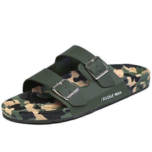 Hishoes , Chaussons pour homme vert militaire