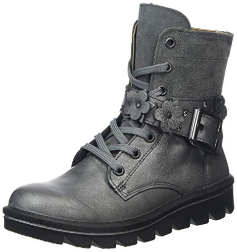 RICOSTA Mädchen JELLA Biker Boots, Grau (Graphit/Patina 456), 35 EU
