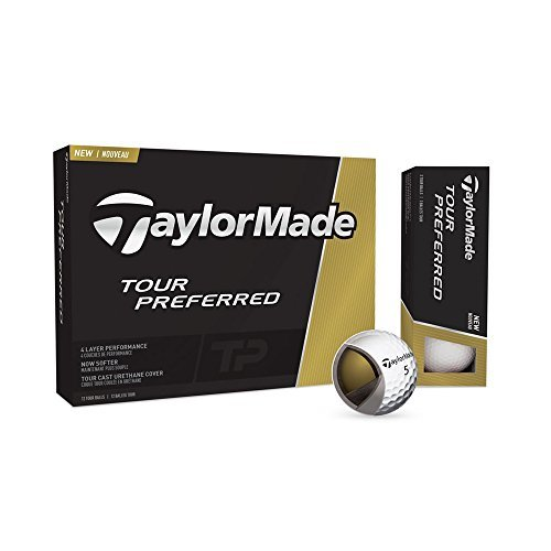 new-2016-taylormade-tp-tour-preferred-4-piece-golf-balls-1-dozen-by-taylormade